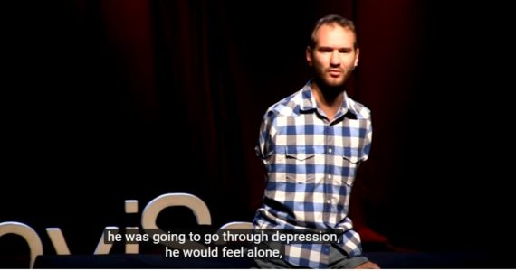 Overcoming Hopelessness by Australian evangelist, Nick Vujicic