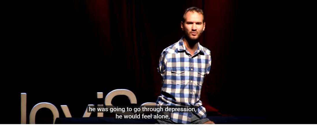 Overcoming Hopelessness by Australian evangelist, Nick Vujicic