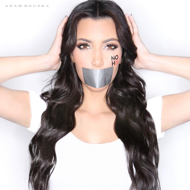 NOH8 image of Kim Kardashian