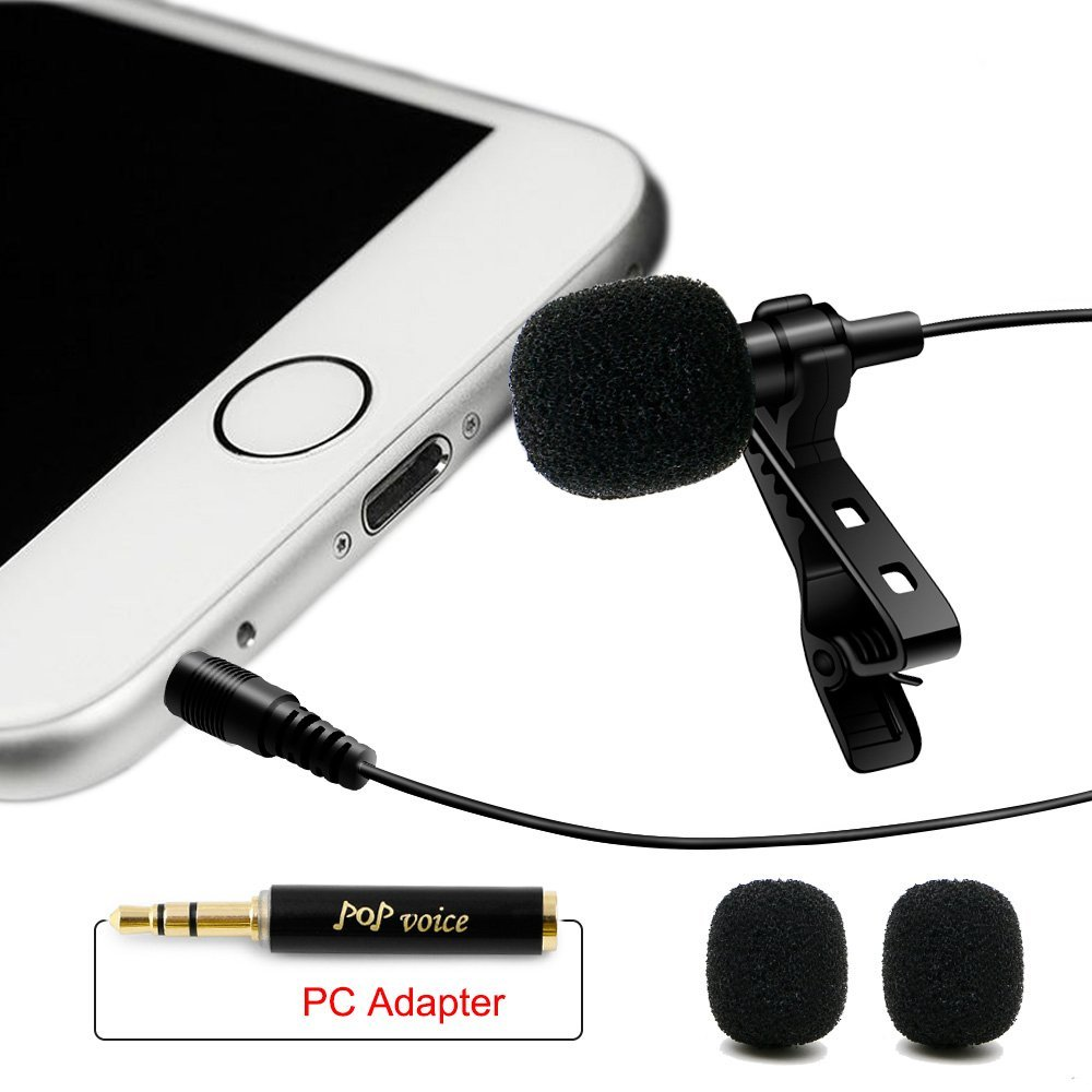 Professional Lavalier Lapel Omnidirectional Condenser Microphone